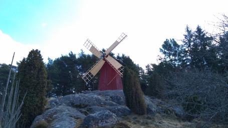 Old wooden mill in Skansen