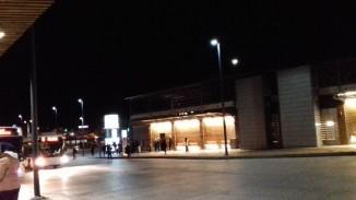 Falun Knutpunkten at night
