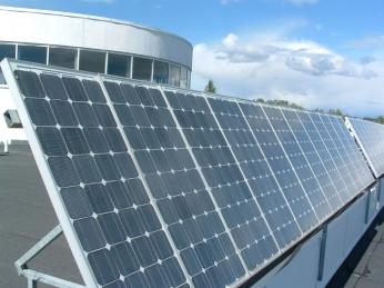 PV panels on rooftop of Dalarnauniversity, credits: www.du.se